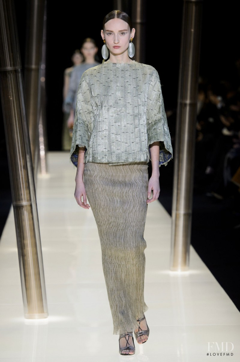 Alex Yuryeva featured in  the Armani Prive fashion show for Spring/Summer 2015