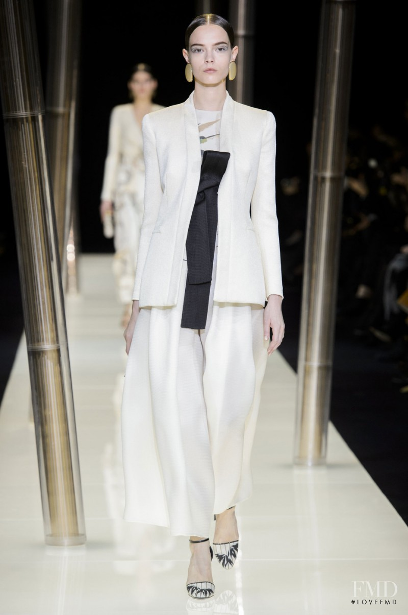 Mina Cvetkovic featured in  the Armani Prive fashion show for Spring/Summer 2015