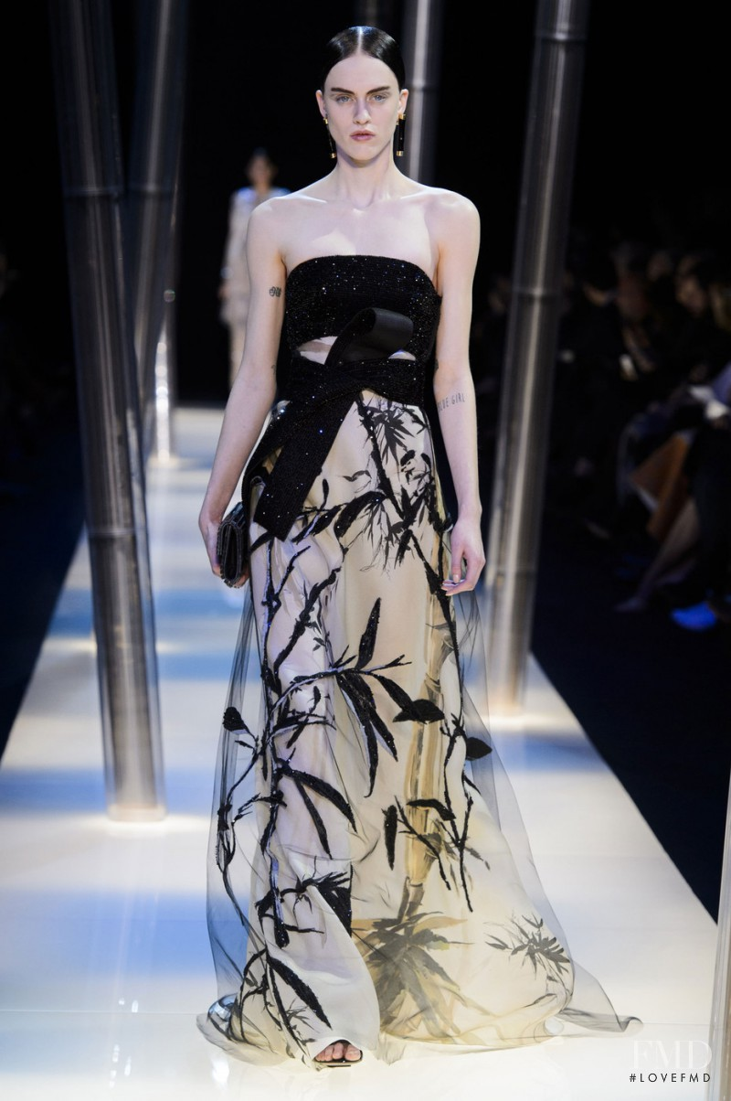 Sarah Brannon featured in  the Armani Prive fashion show for Spring/Summer 2015