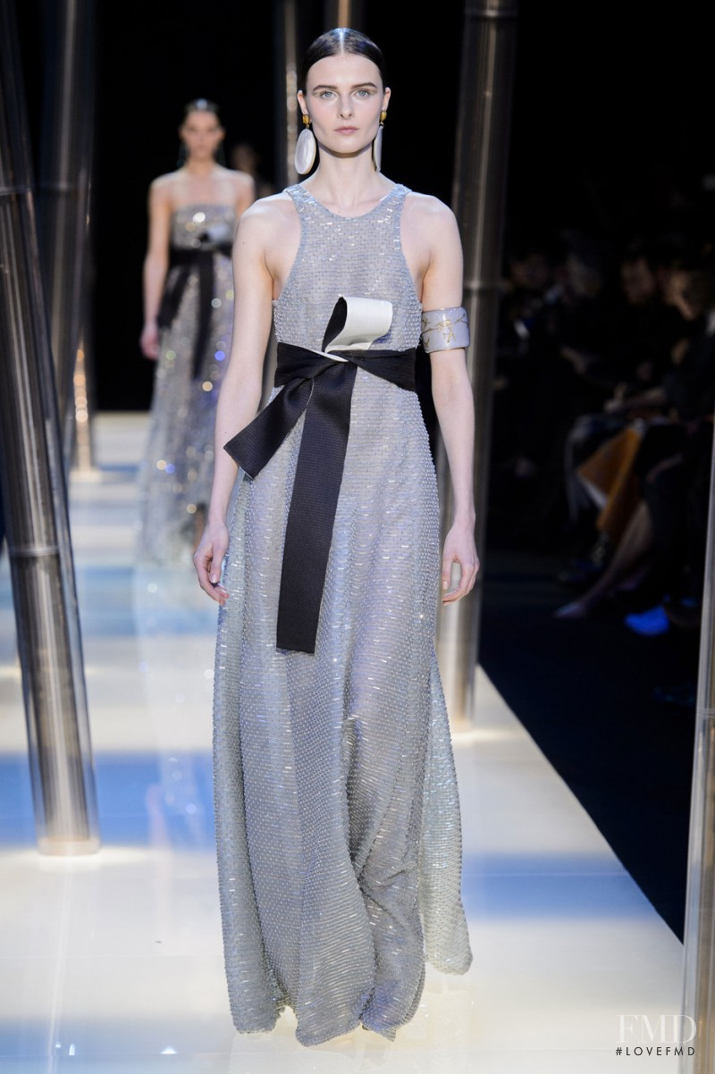Vasilisa Pavlova featured in  the Armani Prive fashion show for Spring/Summer 2015
