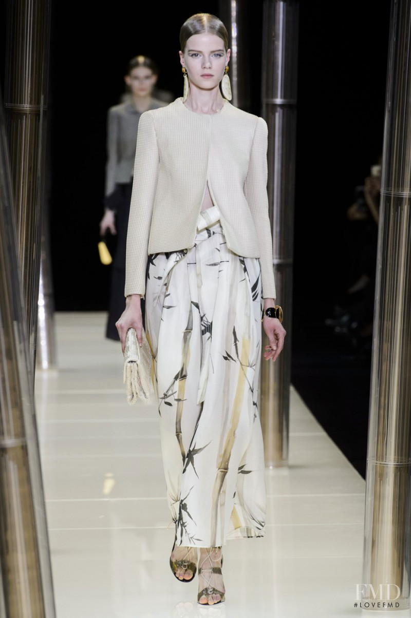 Kadri Vahersalu featured in  the Armani Prive fashion show for Spring/Summer 2015