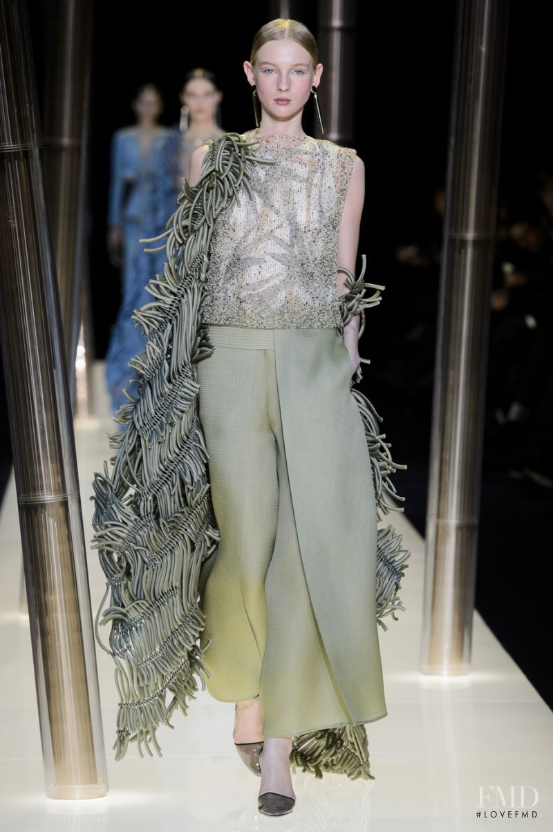 Nastya Sten featured in  the Armani Prive fashion show for Spring/Summer 2015