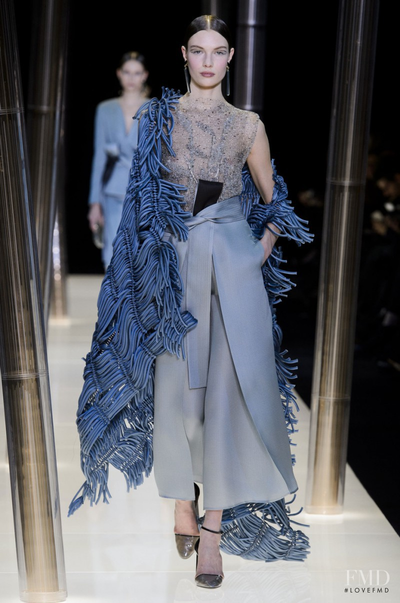 Alexandra Martynova featured in  the Armani Prive fashion show for Spring/Summer 2015