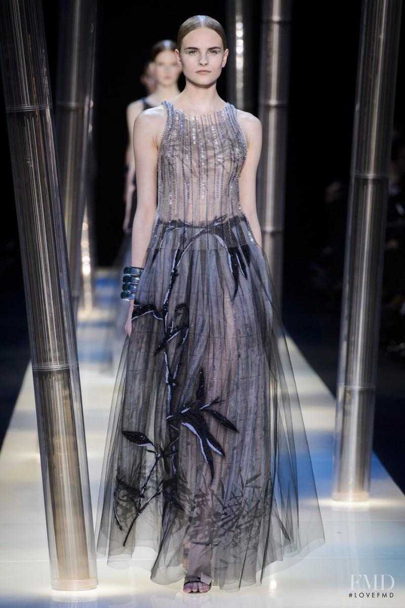 Kristina Petrosiute featured in  the Armani Prive fashion show for Spring/Summer 2015