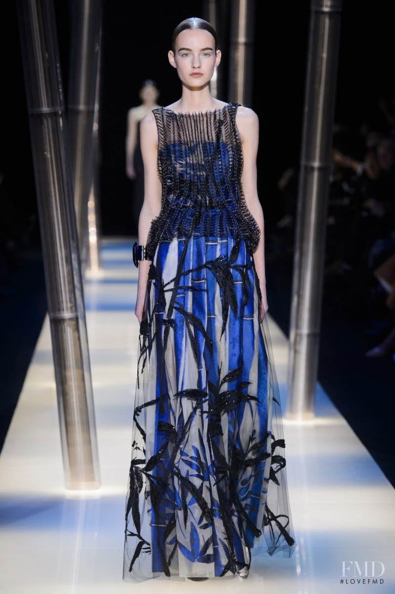Maartje Verhoef featured in  the Armani Prive fashion show for Spring/Summer 2015