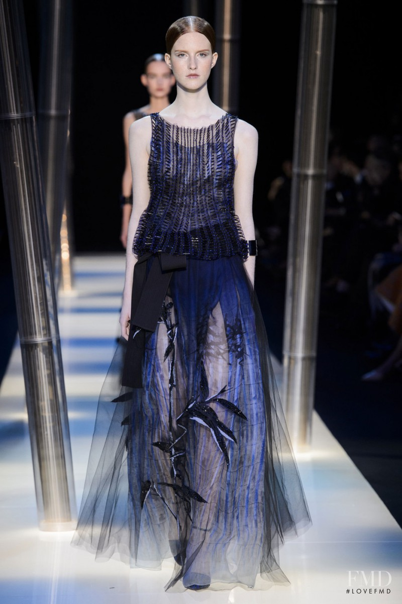 Magdalena Jasek featured in  the Armani Prive fashion show for Spring/Summer 2015